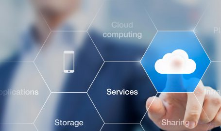 An image showing various cloud services.