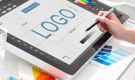 A concept logo being designed.