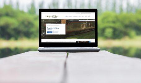 A screenshot of the website we redesigned for MegAStar Narrowboats.