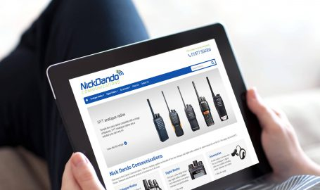 A screenshot of the Nick Dando Communications website designed by Green Route Media.