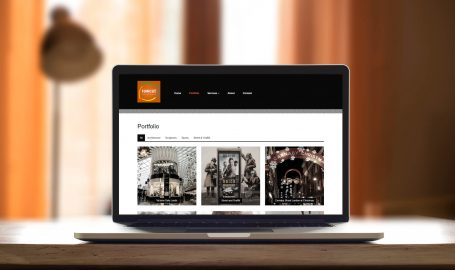 A screenshot of the rawcut photography website designed by Green Route Media.